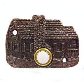 Cabin Door Bell, Antique Copper, Model 919AC