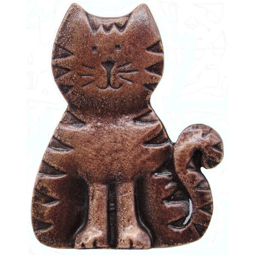 View a Larger Image of Cat Pull, Antique Copper, Model 097AC