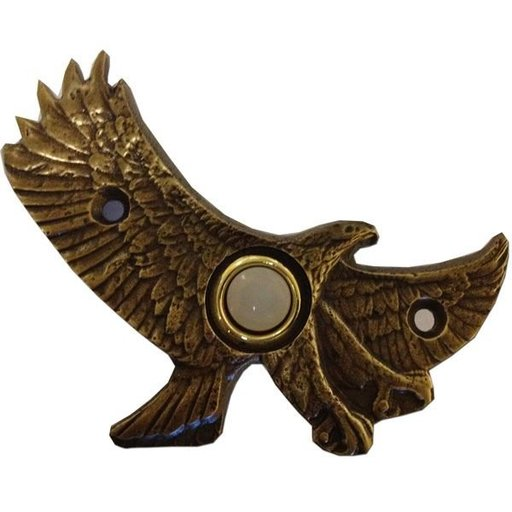 View a Larger Image of Eagle in Flight Door Bell, Pewter, Model 926P