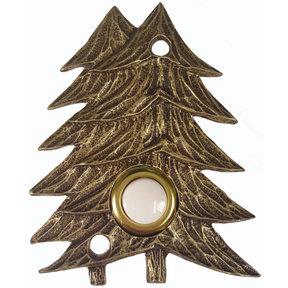 Large Twin Pines Door Bell, Antique Brass, Model 920AB