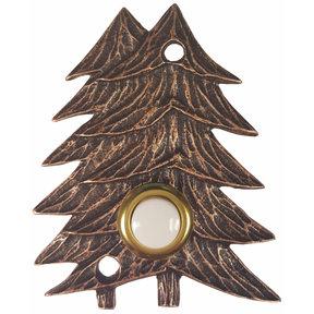 Large Twin Pines Door Bell, Antique Copper, Model 920AC