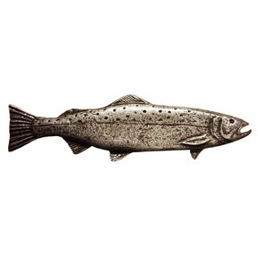 Long Trout Pull, Right, Pewter, Model 319P