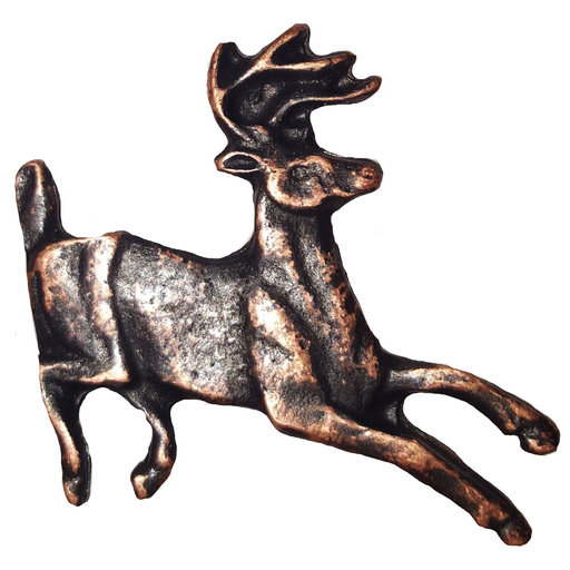 View a Larger Image of Running Whitetail Deer Pull, Oil Rubbed Bronze, Model 128ORB