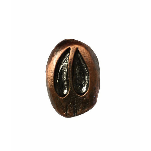 View a Larger Image of Single Whitetail Track Pull Right Facing, Antique Copper, Model 163AC