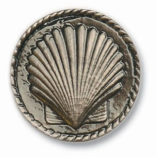 View a Larger Image of Small Sea Shell Pull, Pewter, Model 050P