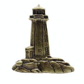 Stand Alone Lighthouse Pull, Antique Brass, Model 125AB