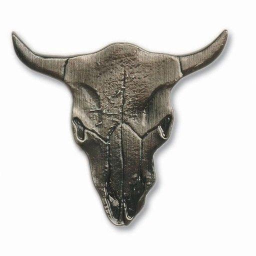View a Larger Image of Steer Skull Pull, Nickel, Model 045N