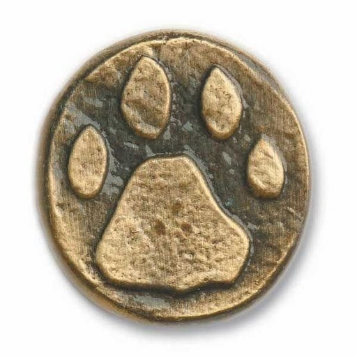 View a Larger Image of Stone Wolf Track Pull, Pewter, Model 173P