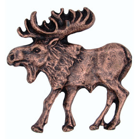 Walking Moose Pull, Left, Antique Copper, Model 002AC