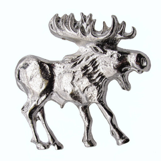 View a Larger Image of Walking Moose Pull, Right, Nickel, Model 183N