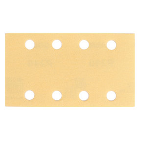 "GOLD 3""x5"" Grip Sandpaper, 8H P180, 50 Sheets/Box"