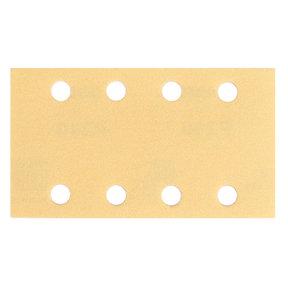"GOLD 3""x5"" Grip Sandpaper, 8H P80, 50 Sheets/Box"