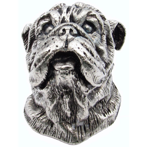 View a Larger Image of Bulldog Knob Pewter Oxide