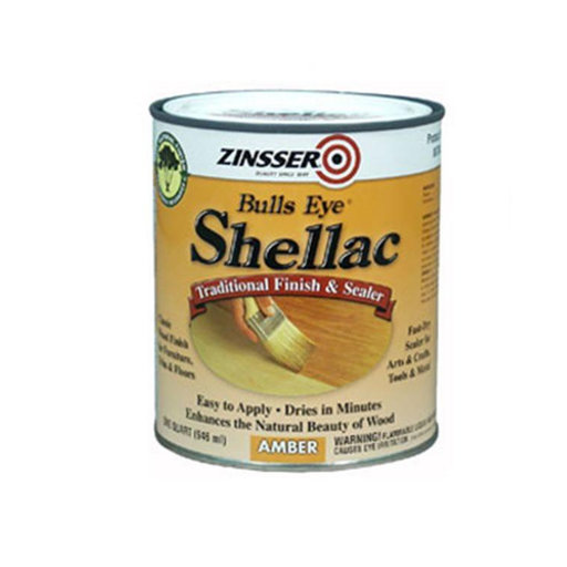 View a Larger Image of Gloss Shellac Bulls Eye Solvent Based Quart