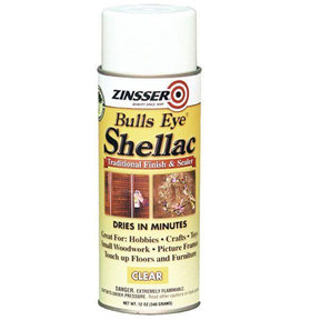 Gloss Shellac Bulls Eye Solvent Based Aerosol 12ox