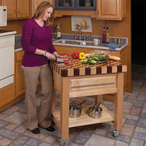 View a Larger Image of Butcher Block Cart - Paper Plan