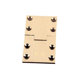 """Square Butler Tray Hinge 2-1/2"""" L x 1-1/2"""" W Pair"""