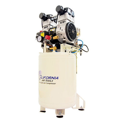 View a Larger Image of 2HP 10 Gallon Oil-Free Steel Tank Air Compressor with Air Drying System and Aftercooler