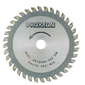 Carbide-Tipped Saw Blade for Proxxon FKS/E, FET & KGS 80, 36 teeth