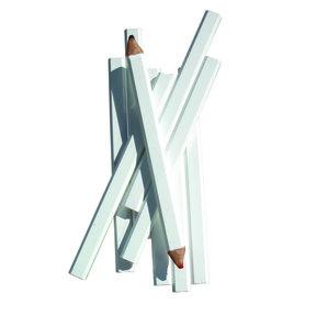 Carpenter Pencil White Casing Medium Red/Black Lead Pack of 72