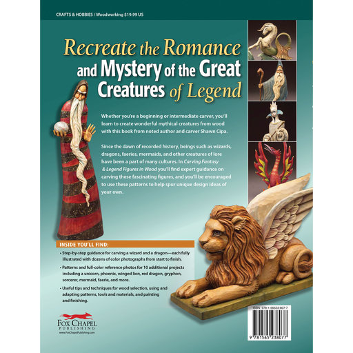 View a Larger Image of Carving Fantasy and Legend Figures in Wood, Revised Edition