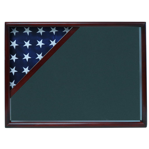 View a Larger Image of Ceremonial Flag Case, Cherry, Army Green background