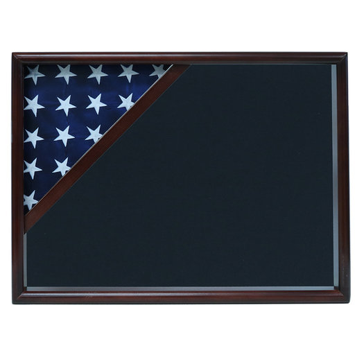 View a Larger Image of Ceremonial Flag Corner Case, Walnut, Air Force Blue background