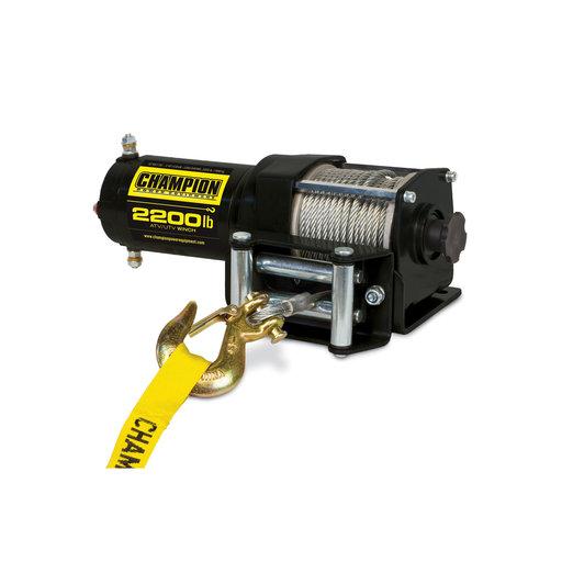 View a Larger Image of Champion 2200 lb. ATV/UTV Winch Kit, Model 100127