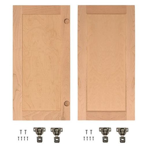 View a Larger Image of Cherry Flat Panel Accessory Doors for 32 in. InvisiDoor Bookcase Door