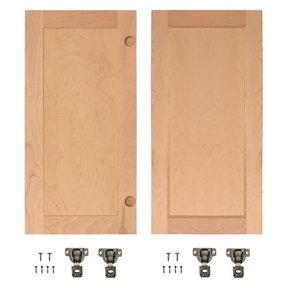 Cherry Flat Panel Accessory Doors for 32 in. InvisiDoor Bookcase Door