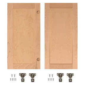 Cherry Flat Panel Accessory Doors for 36 in. InvisiDoor Bookcase Door
