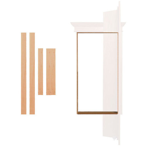 View a Larger Image of Cherry Outswing Jam/Threshold Accessory for 32 in. or 36 in. InvisiDoor Bookcase Door