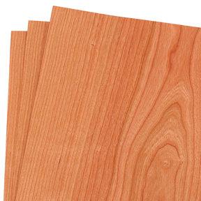 """Cherry Wood Veneer Pack - 12"""" x 12"""" - 3 Piece"""