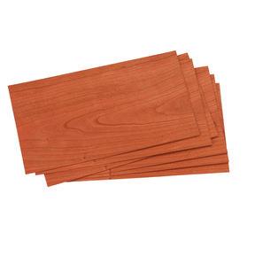 """Cherry Wood Veneer - 4-1/2"""" to 6-1/2"""" Width - 3 Square Foot Pack"""
