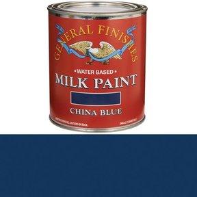 China Blue Milk Paint Water Based Quart