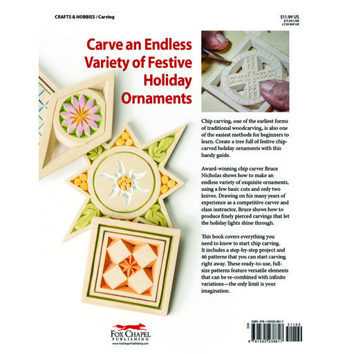 View a Larger Image of Chip Carved Christmas Ornaments