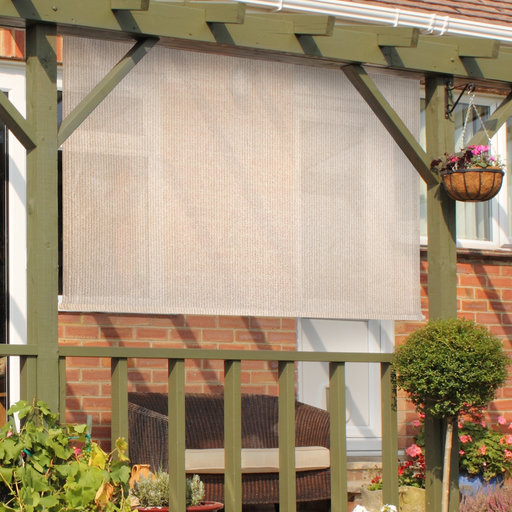 View a Larger Image of Choice Cordless Outdoor Sun Shade, 10' W x 6' L, Monterey