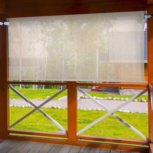 View a Larger Image of Choice Cordless Outdoor Sun Shade, 4' W x 6' L, Monterey