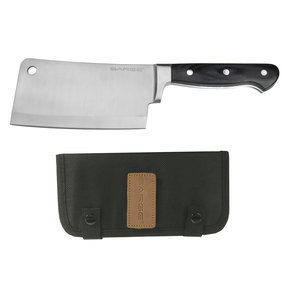 """Chop - Cleaver with Sheath, Kitchen Grade Stainless Steel 6-1/4"""" Blade"""