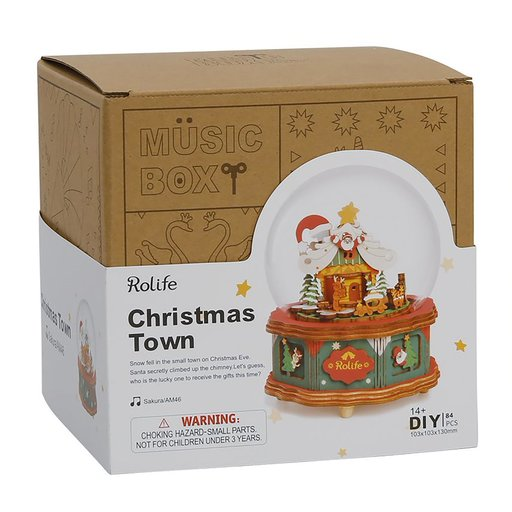 View a Larger Image of Christmas Town Music Box Kit