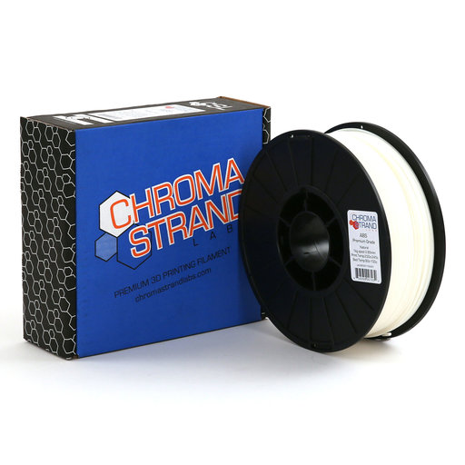 View a Larger Image of Chroma Strand ABS Filament, White, 2.85mm, 1kg reel