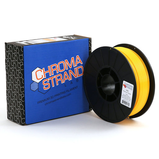 View a Larger Image of Chroma Strand ABS Filament, Yellow, 2.85mm, 1kg reel