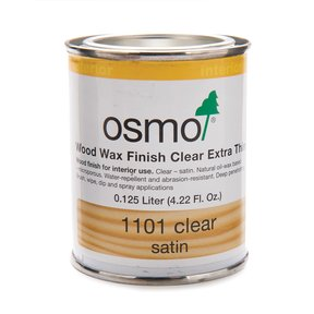 Clear Wood Wax Extra Thin 1101 Solvent Based .125 l