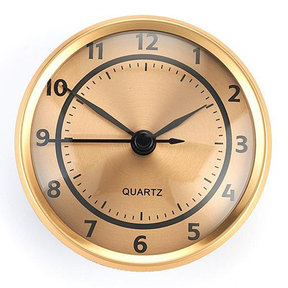 Clock Fit-up-Arabic w/Brushed Gold Dial and Brushed Gold Bezel