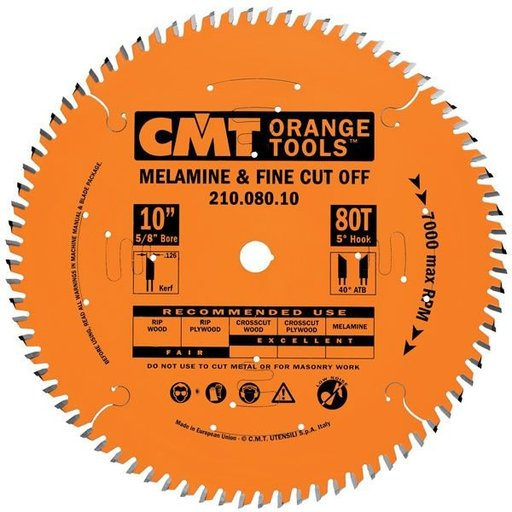 """View a Larger Image of 210.060.08 Circular Saw Blade 8"""" x 5/8"""" Bore x 60 Tooth ATB"""