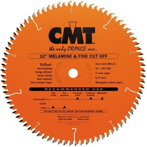 """View a Larger Image of 210.080.10 Circular Saw Blade 10"""" x 5/8"""" Bore x 80 Tooth ATB"""