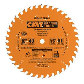 """213.040.10 Circular Saw Blade 10"""" x 5/8"""" Bore x 40 Tooth ATB"""