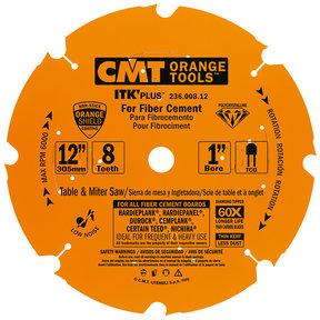 """236.008.12 Miter Saw/Circular Saw Blade, 12"""" x 8T x 1"""" bore"""