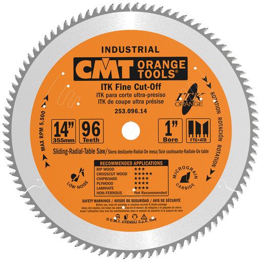 View a Larger Image of 253.096.14 ITK Finish Compound Miter Saw Blade 96 Tooth