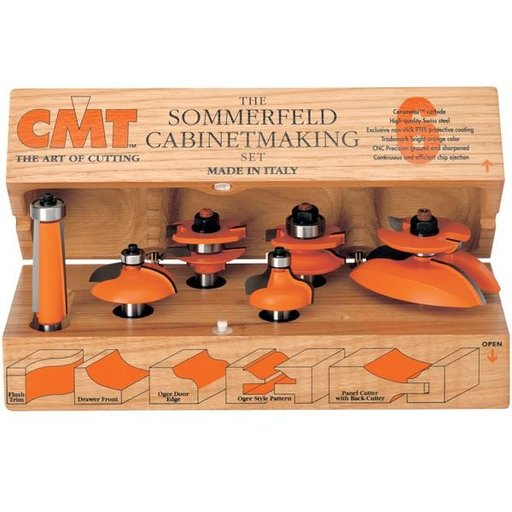 """View a Larger Image of 800.515.11 Cabinetmaking Router Bit Set Cove Profile - 1/2""""SH"""